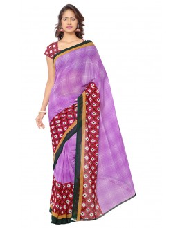 Ethnic Wear Purple Ranyal Printed Saree  - 81818
