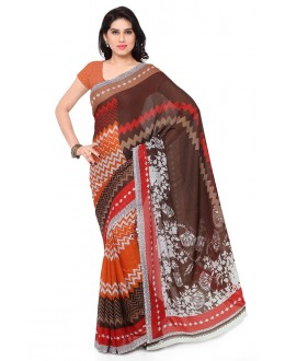 Party Wear Multi Colour Ranyal Printed Saree  - 81856