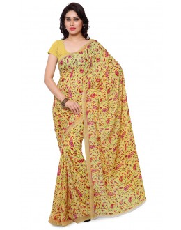 Casual Wear Yellow Ranyal Printed Saree  - 81868