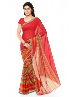 Ethnic Wear Multi Colour Ranyal Printed Saree  - 81875