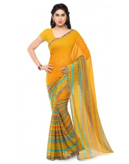 Festival Wear Multi Colour Ranyal Printed Saree  - 81876