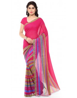 Traditional Wear Multi Colour Ranyal Printed Saree  - 81877