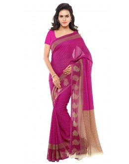 Ethnic Wear Pink Ranyal Printed Saree  - 81886