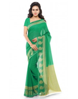 Festival Wear Green Ranyal Printed Saree  - 81887