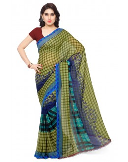 Party Wear Multi Colour Ranyal Printed Saree  - 81897