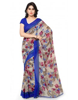 Casual Wear Multi Colour Ranyal Printed Saree  - 81906