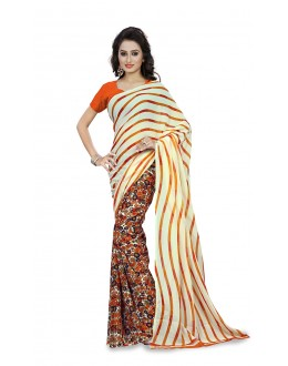 Traditional Wear Multi Colour Ranyal Printed Saree  - 81915