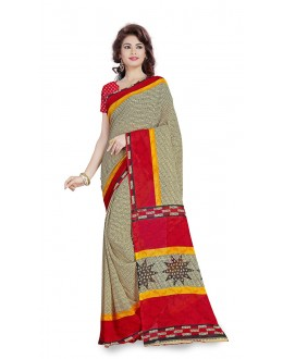 Festival Wear Multi Colour Ranyal Printed Saree  - 81927