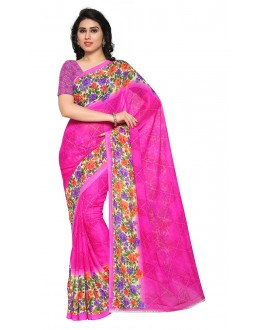 Traditional Wear Pink Ranyal Printed Saree  - 81932