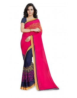 Party Wear Multi Colour Ranyal Printed Saree  - 81934