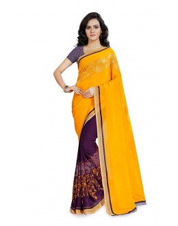 Ethnic Wear Multi Colour Ranyal Printed Saree  - 81935