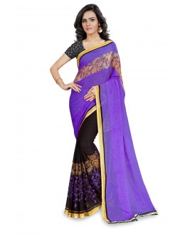 Fetival Wear Multi Colour Ranyal Printed Saree  - 81937