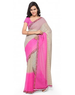 Festival Wear Pink & White  Ranyal Printed Saree  - 81950