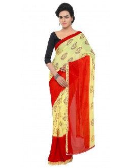 Festival Wear Multi Colour Ranyal Printed Saree  - 81957
