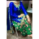 Bollywood Replica - Designer Blue & Green Cotton Patiala Suit - EBSFSK223008A ( EBSFSK22 )