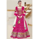 Designer Pink Georgette Heavy Embroidered Anarkali Suit  - EBSFSK223002B ( EBSFSK22 )