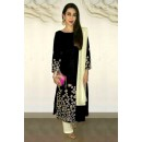 Karishma Kapoor Black Embroidered Cotton Salwar Suit - EBSFSK223005A ( EBSFSK22 )