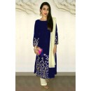 Karishma Kapoor Blue Embroidered Cotton Salwar Suit - EBSFSK223005B ( EBSFSK22 )