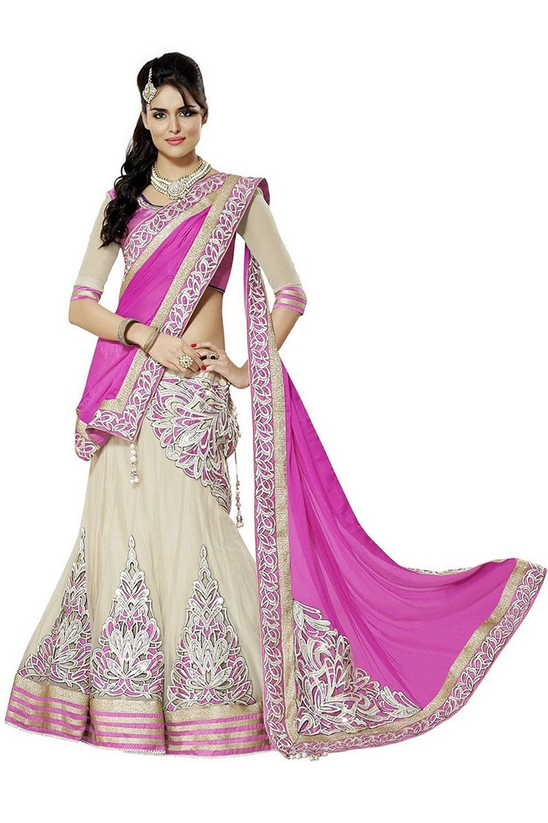 Bollywood Replica - Designer Net Off White Lehenga Choli - EBSFLC234013