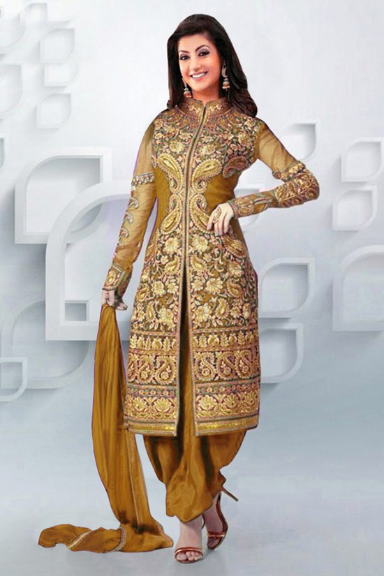 Eid Special Golden Patiala Suit - EBSFSK09107E