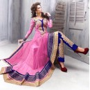 Party Wear Net Pink Anarkali Suit - EBSFSK09102D