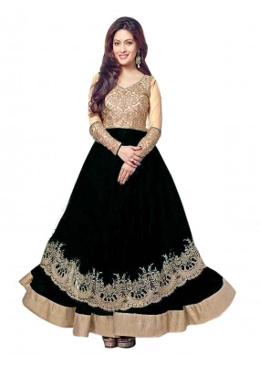 Wedding Wear Black Net Anarkali Suit  - EBSFSK14217C ( EBSFSK14 )