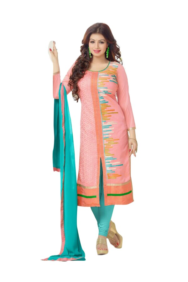 Casual Wear Chanderi Cotton Pink Salwar Kameez - EBSFSK202018