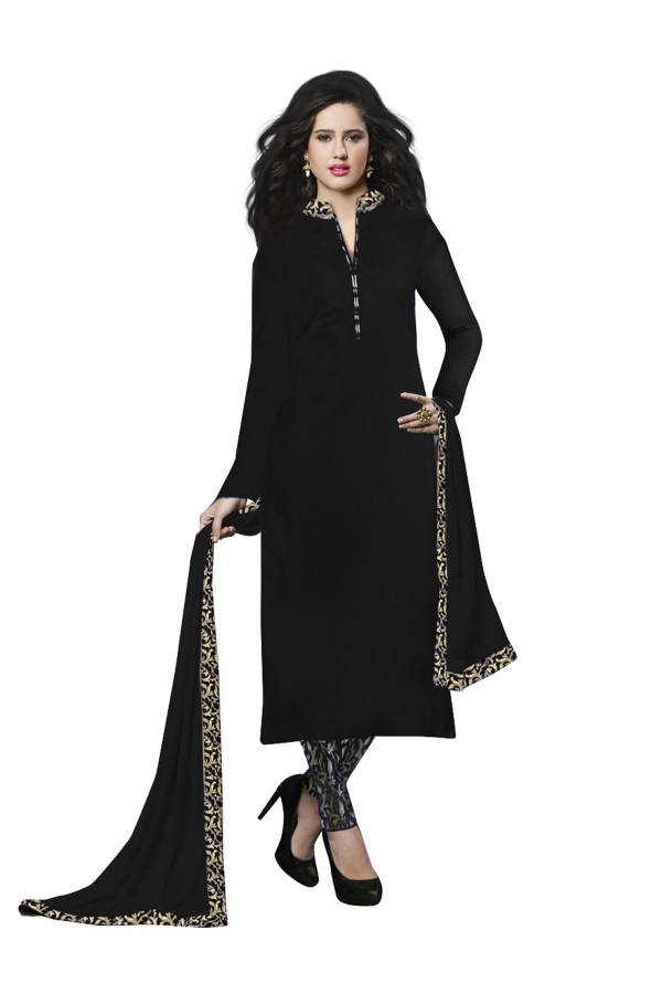 Party Wear Banglori Silk Black Salwar Kameez - EBSFSK202027