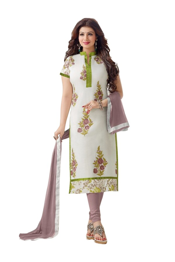Party Wear Cotton Off White Salwar Kameez - EBSFSK202023