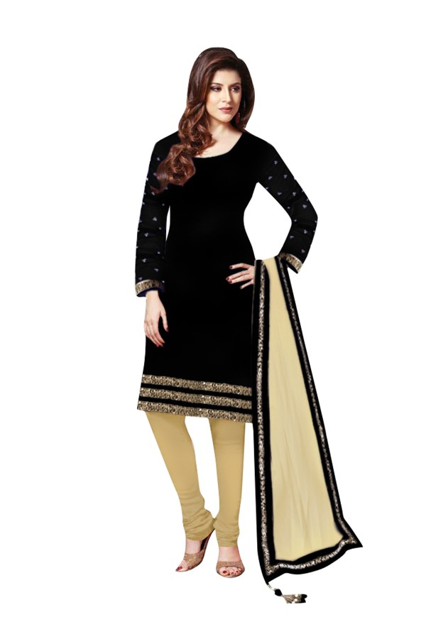 Party Wear Velvet Black Salwar Kameez - EBSFSK202029B