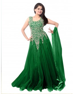 Party Wear Net Green Gown - EBSFSK234014I
