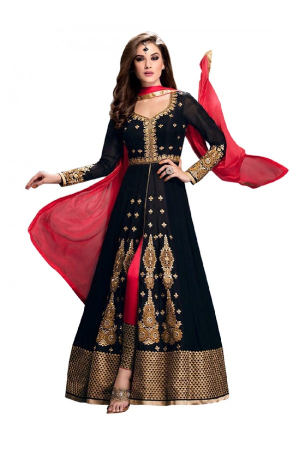 Wedding Wear Black Anarkali Suit  - EBSFSK245001 ( EBSFSK24 )