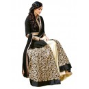 Banglori Silk Embroidered Black Lehenga Suit - ( EBSFSK25 )