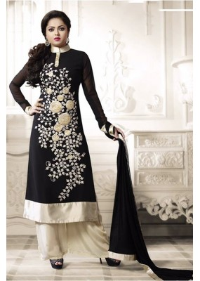 Faux Georgette Embroidered Black Patiyala Suit  - EBSFSK267012 ( EBSFSK26 )