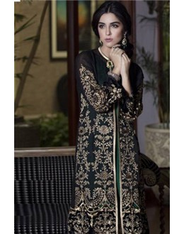 Georgette Embroidered Black Salwar Kameez - EBSFSK267058 ( EBSFSK26 )