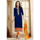 Georgette Embroidered Blue Salwar Kameez - EBSFSK267033 ( EBSFSK26 )