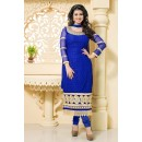 Georgette Embroidered Blue Salwar Kameez - EBSFSK267041 ( EBSFSK26 )