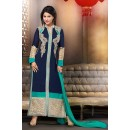 Georgette Embroidered Blue Salwar Kameez - EBSFSK267043 ( EBSFSK26 )