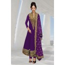 Georgette Embroidered Purple Anarkali Salwar Kameez - EBSFSK267037A ( EBSFSK26 )