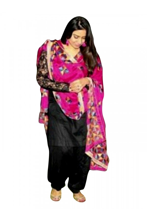 Cotton Embroidered Black Salwar Kameez  - EBSFSK28924 ( EBSFSK28 )