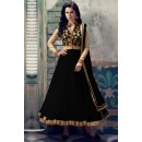 Net Embroidered Black Anarkali Salwar Kameez - EBSFSK223021B ( EBSFSK22 )