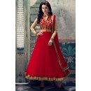 Net Embroidered Red Anarkali Salwar Kameez - EBSFSK223021G ( EBSFSK22 )