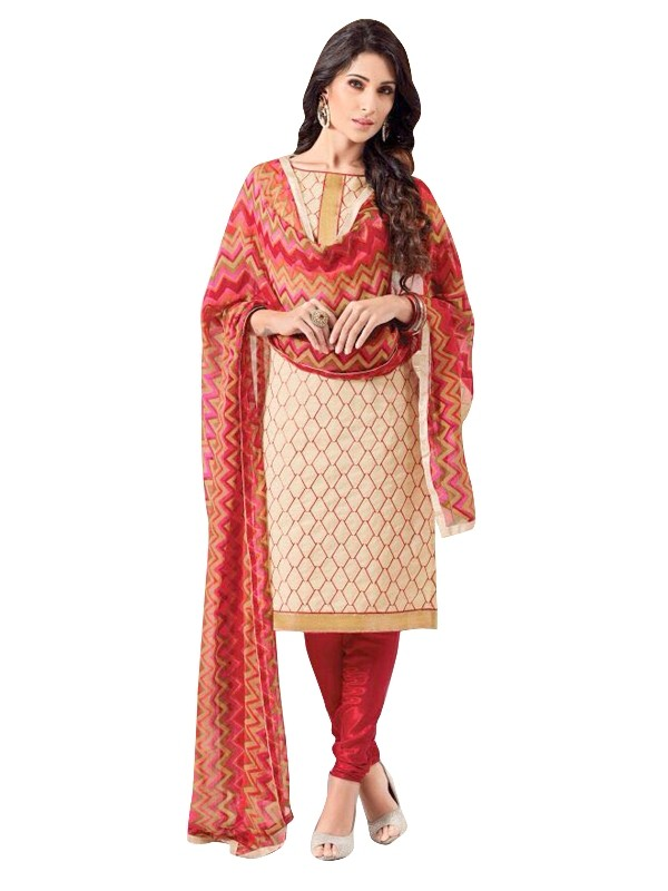 Chanderi Cream Salwar Suit - EBSFSKRB334047