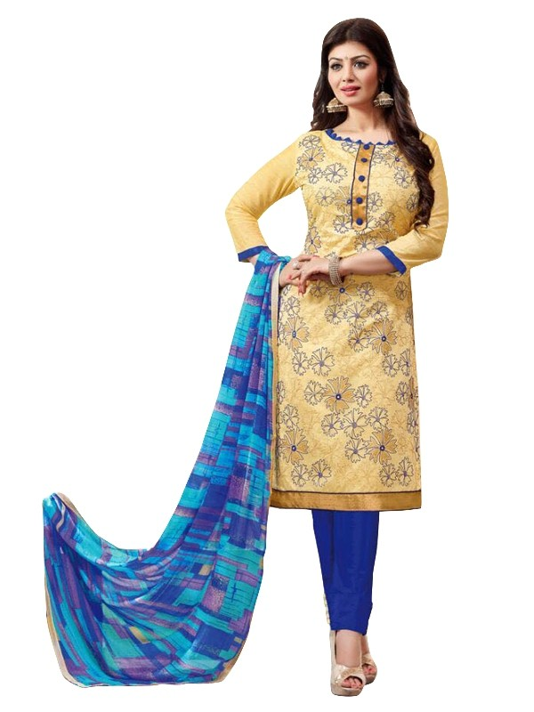 Chanderi Yellow Salwar Suit - EBSFSKRB334077