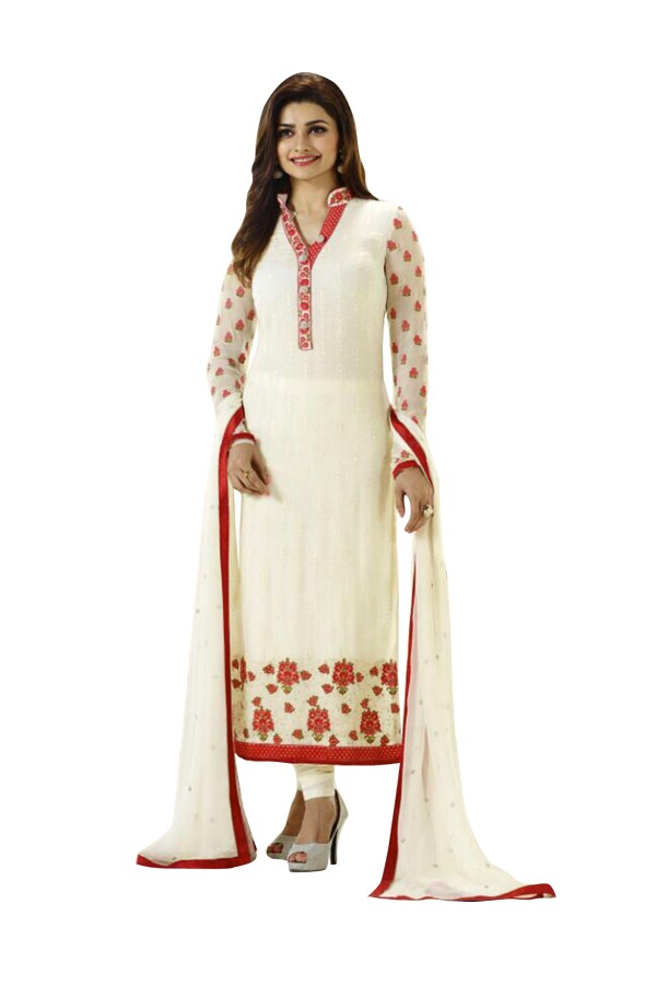 Faux Georgette Cream Salwar Suit - EBSFSKRB334043