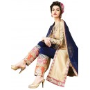 Georgette & Silk Beige Churidar Suit - EBSFSKRB334013