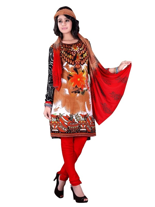 Rayon Cotton Multicolor Salwar Suit - EBSFSKRB334030