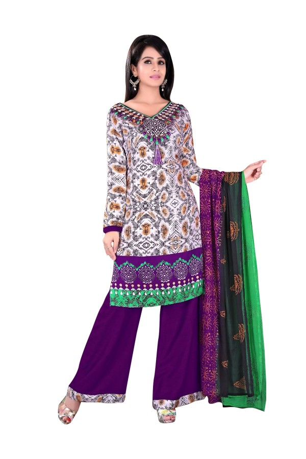 Rayon Cotton Multicolor Salwar Suit - EBSFSKRB334039
