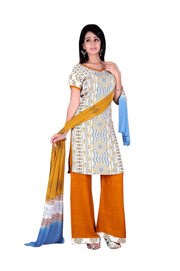 Rayon Cotton White Salwar Suit - EBSFSKRB334038