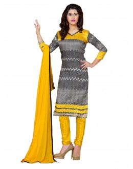 Bhagalpuri Print Grey Salwar Suit Dress Material  - EBSFSK36RA1005